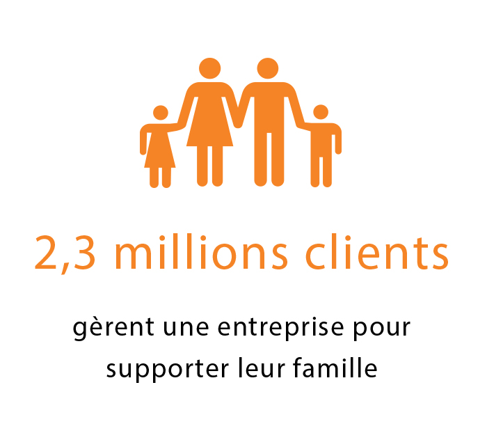 2.3 Million Clients Icon