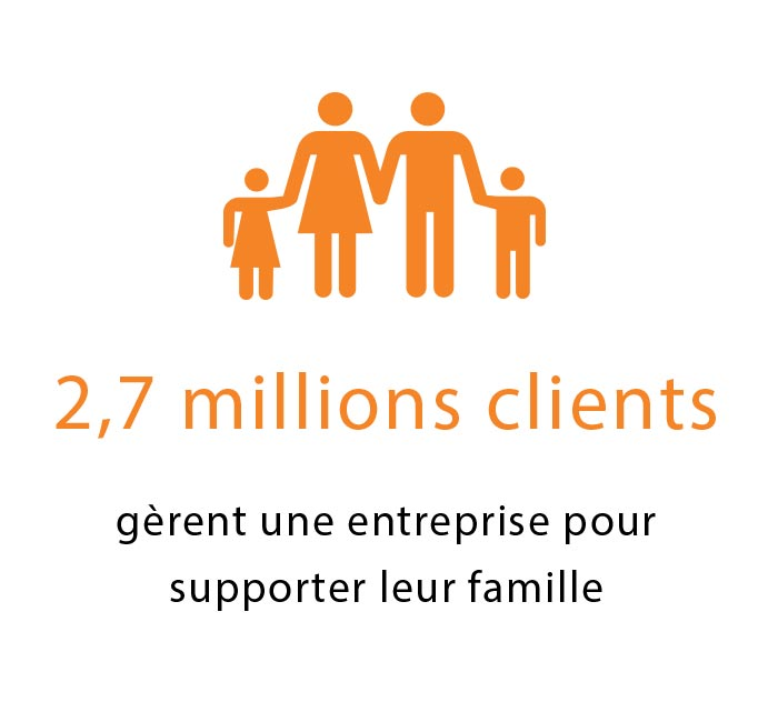 2.7 Million Clients Icon