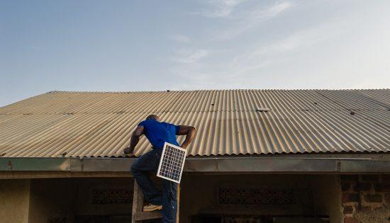 solar light installation